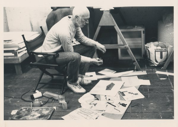 Don Dudley in the studio circa 1980s