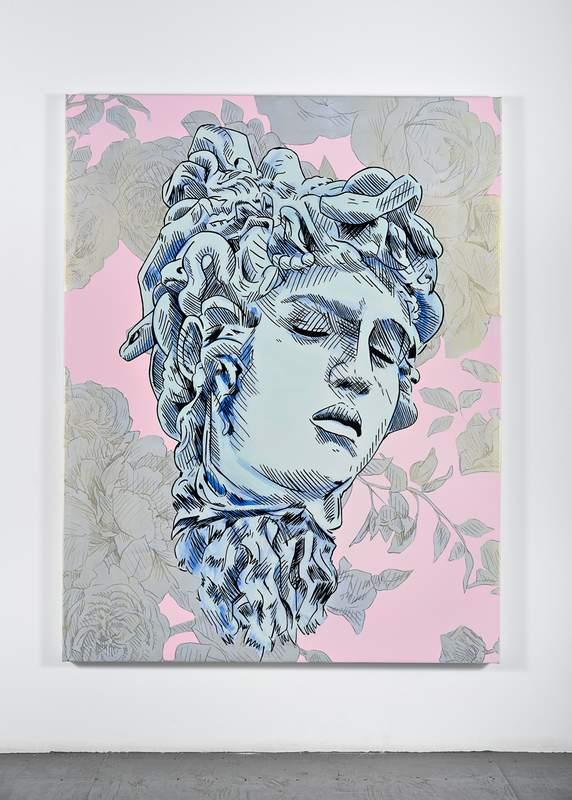 """Bad Feminist (Silver Floral Medusa)"