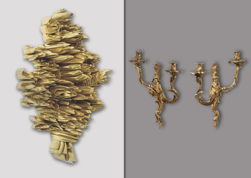 Robert Lazzarini and Late 19th Century Pair of Regence Style Ormolu Two Light Sconces