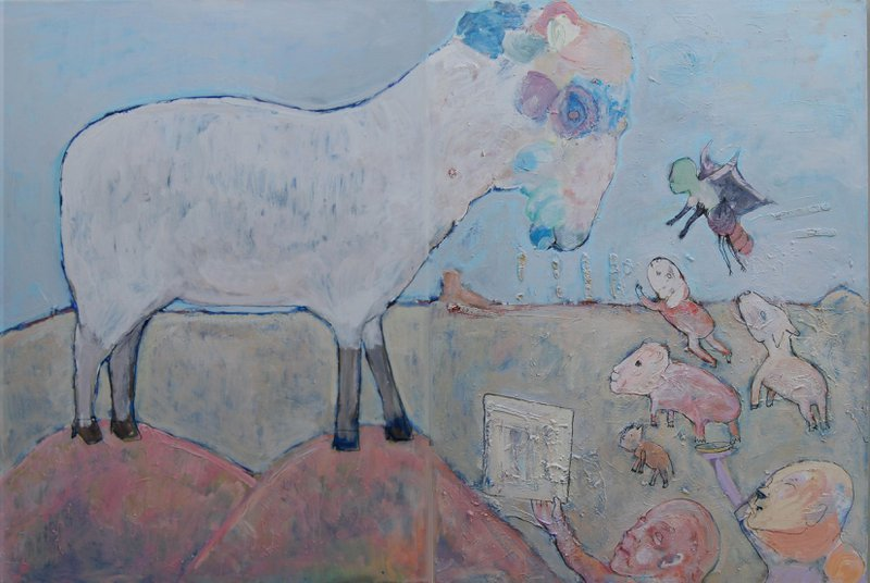 Leader Sheep, Diptych
