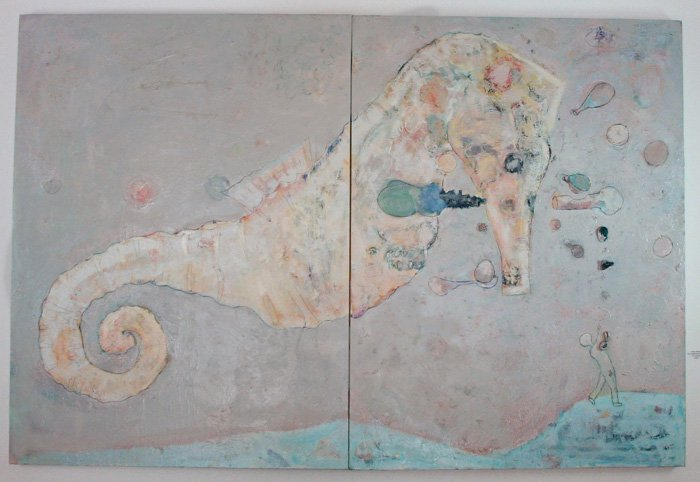 Post analytical seahorse 40 x 60 in