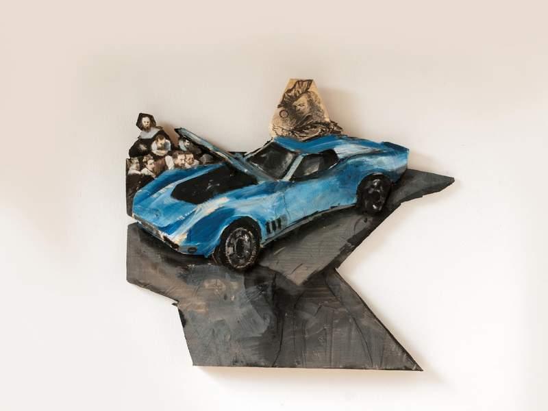 Rembrandt and his little blu corvette